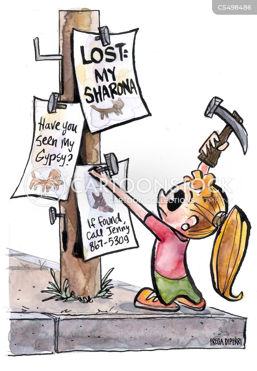 lost animals cartoon