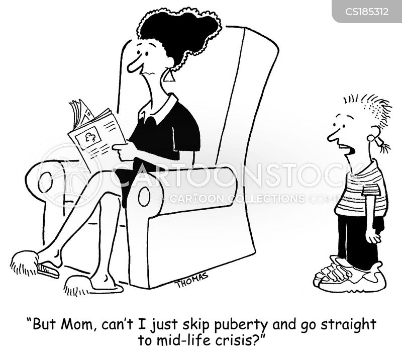 puberty cartoon