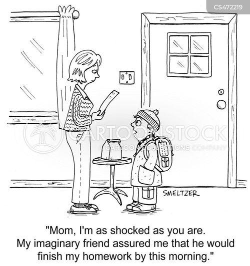 school morning cartoon