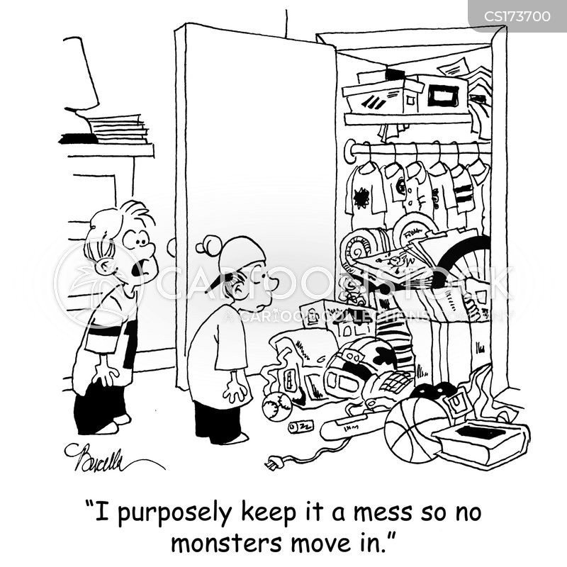 messy closet cartoons and comics funny pictures from