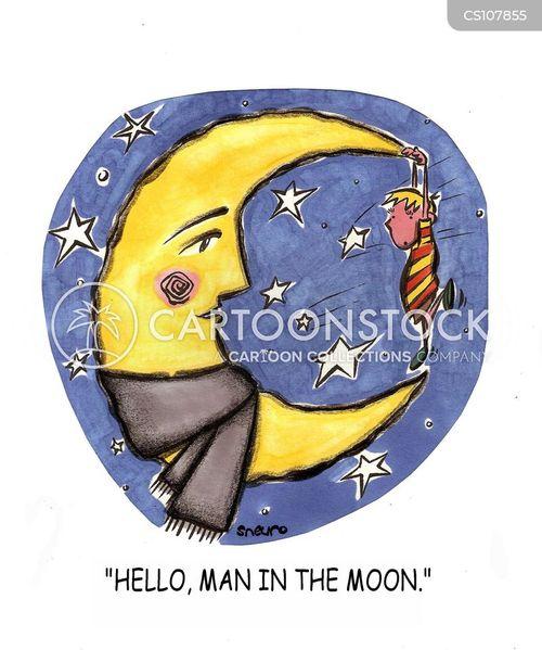 half moon cartoon
