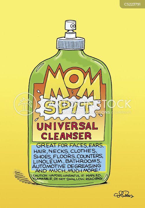 clean face cartoon