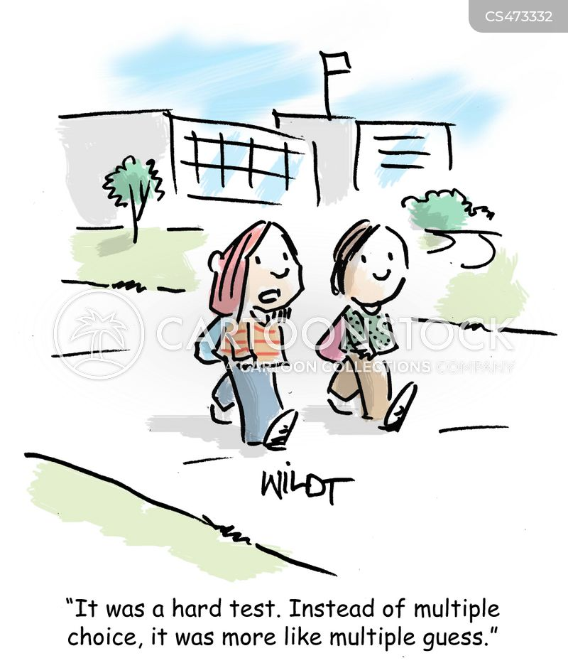 multiple choices cartoon