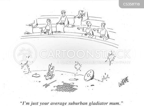 school sports cartoon