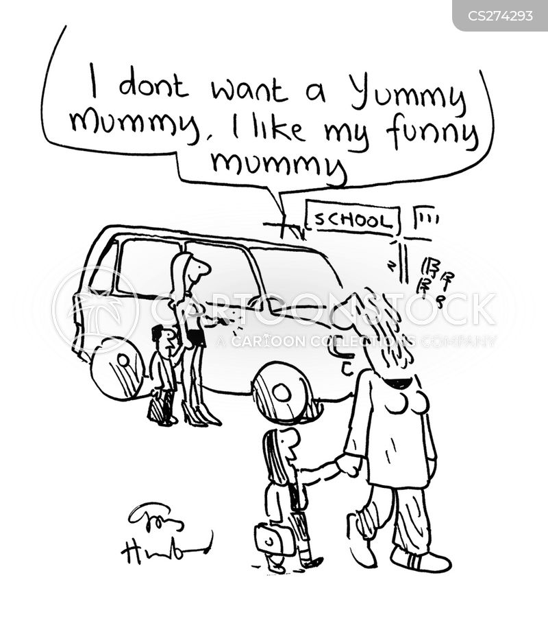 yummy mummy cartoon