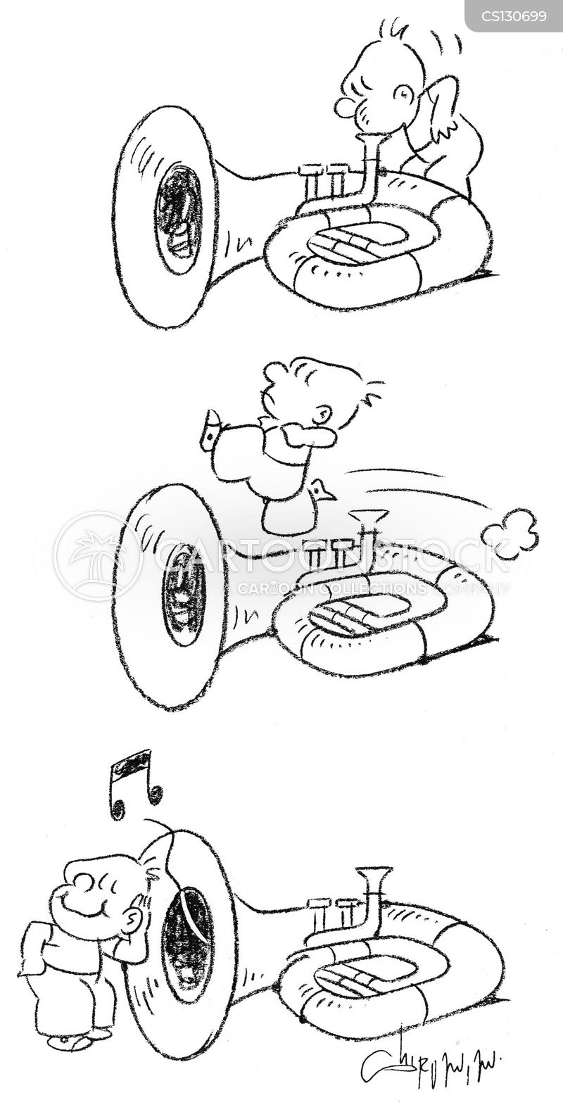 Brass Wind Instruments Cartoons and Comics - funny ...
