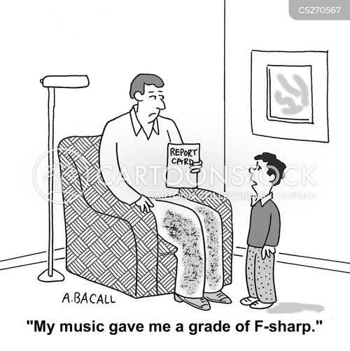 f grade cartoon