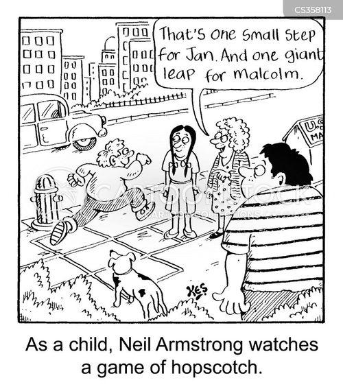 neil armstrong cartoon