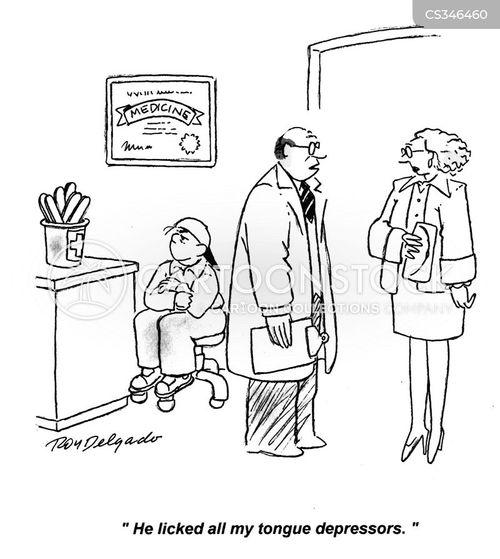 tongue depressor cartoon