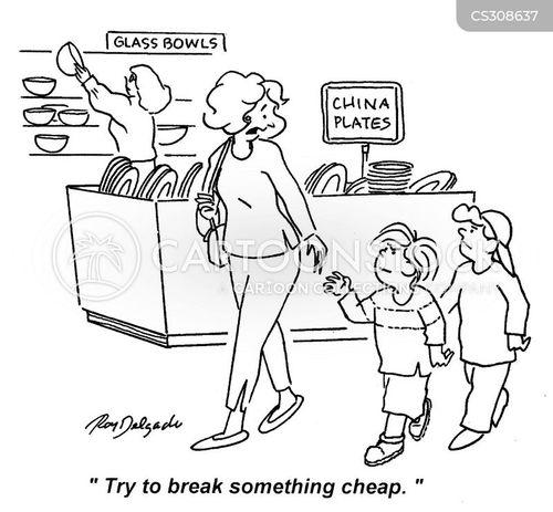 china plates cartoon