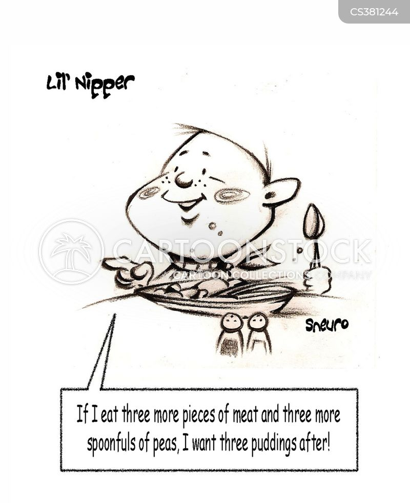 eating food cartoon