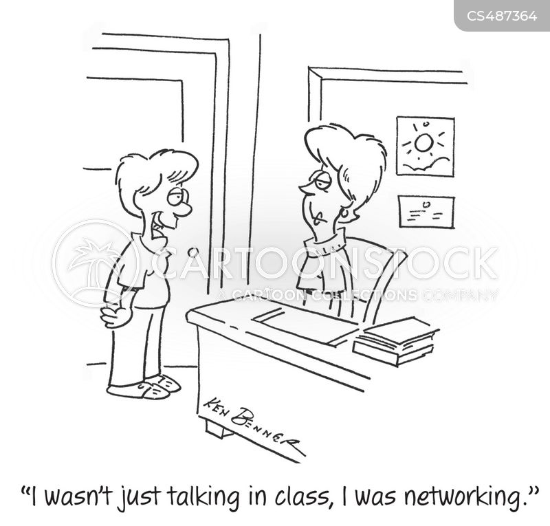 talking in class cartoon