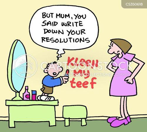 cleaning teeth cartoon