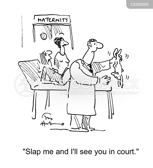 slapping cartoon