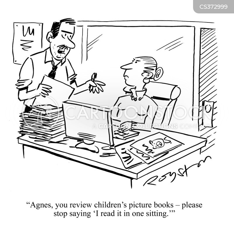 book reviewer cartoon