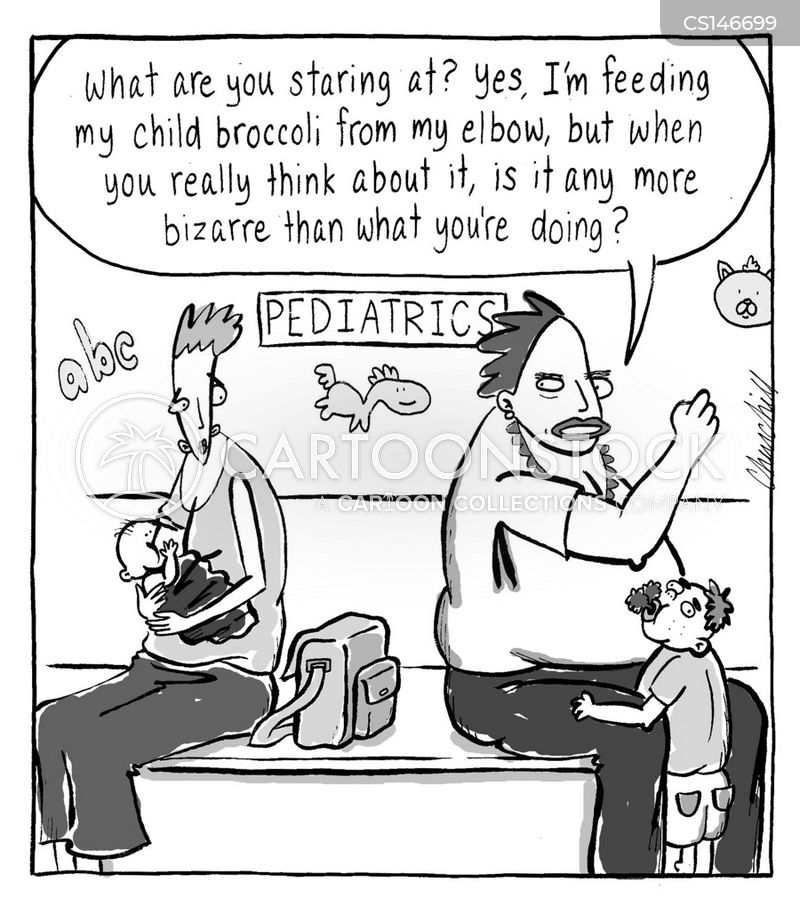 bottle feeding cartoon