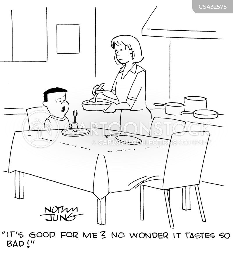 homecooked meals cartoon