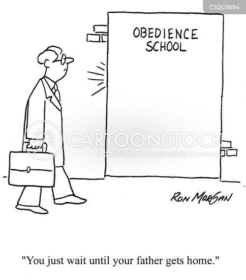 dog obedience cartoon