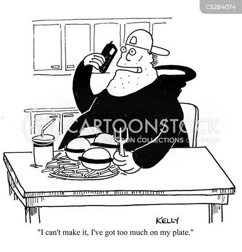 full plate cartoon