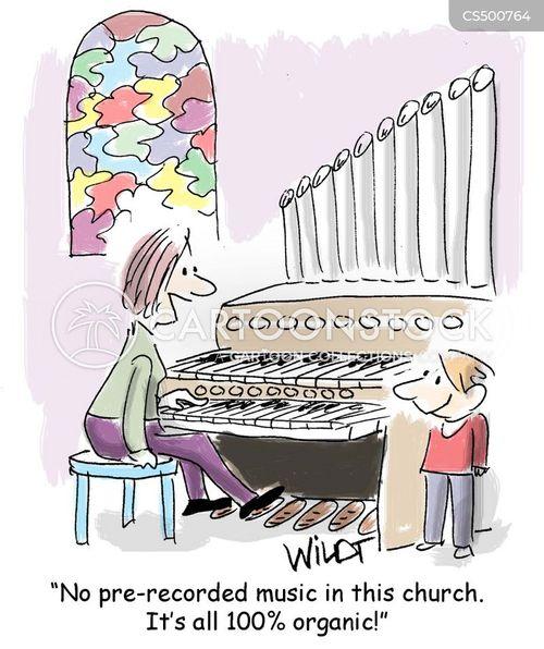 pipe organ cartoon