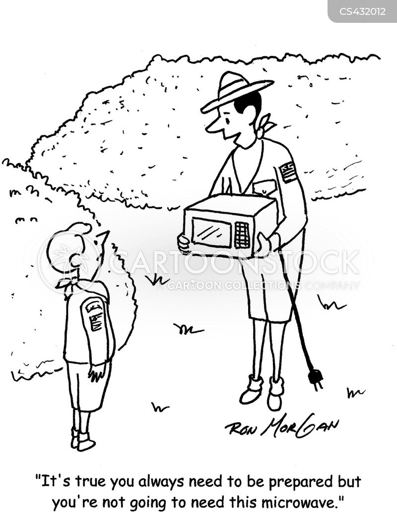 scout masters cartoon