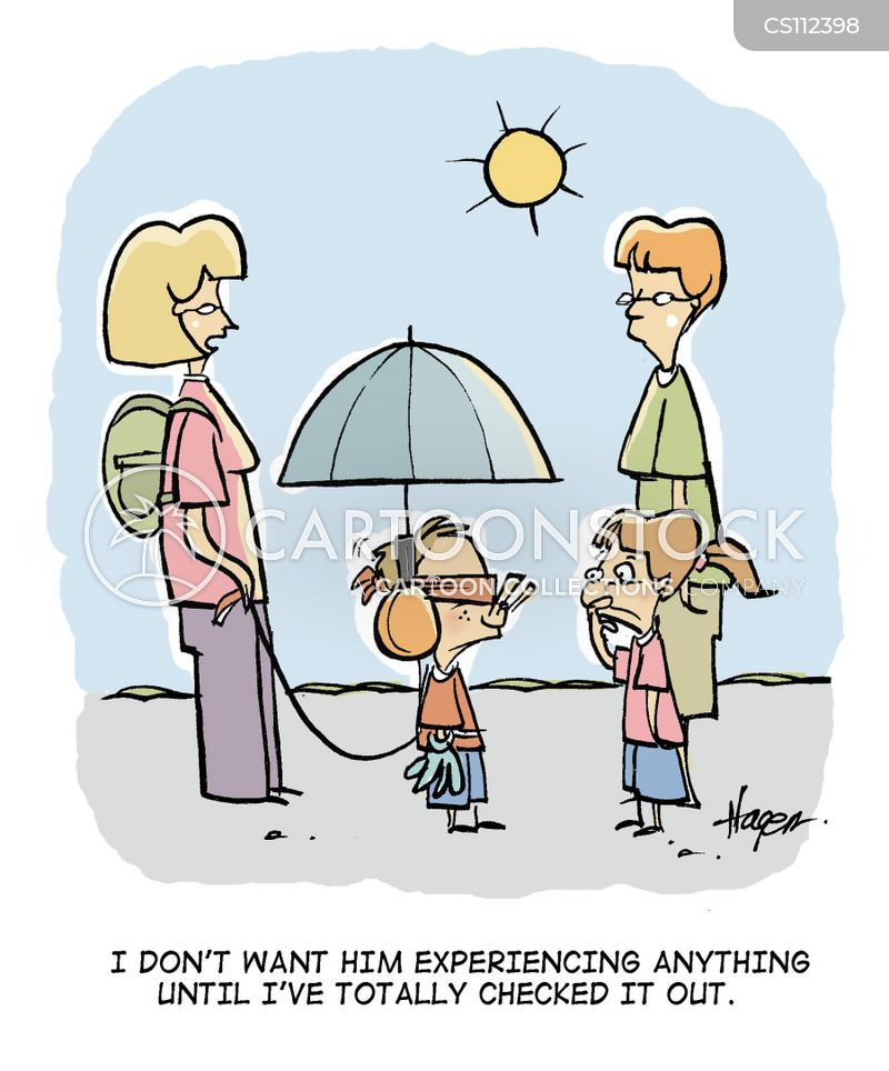 protective parent cartoon