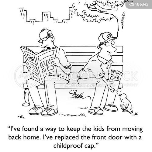 childproof cap cartoon