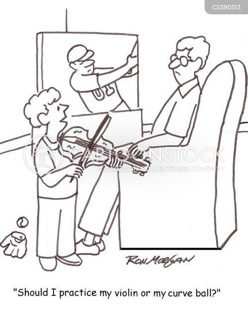 practicing violin cartoon