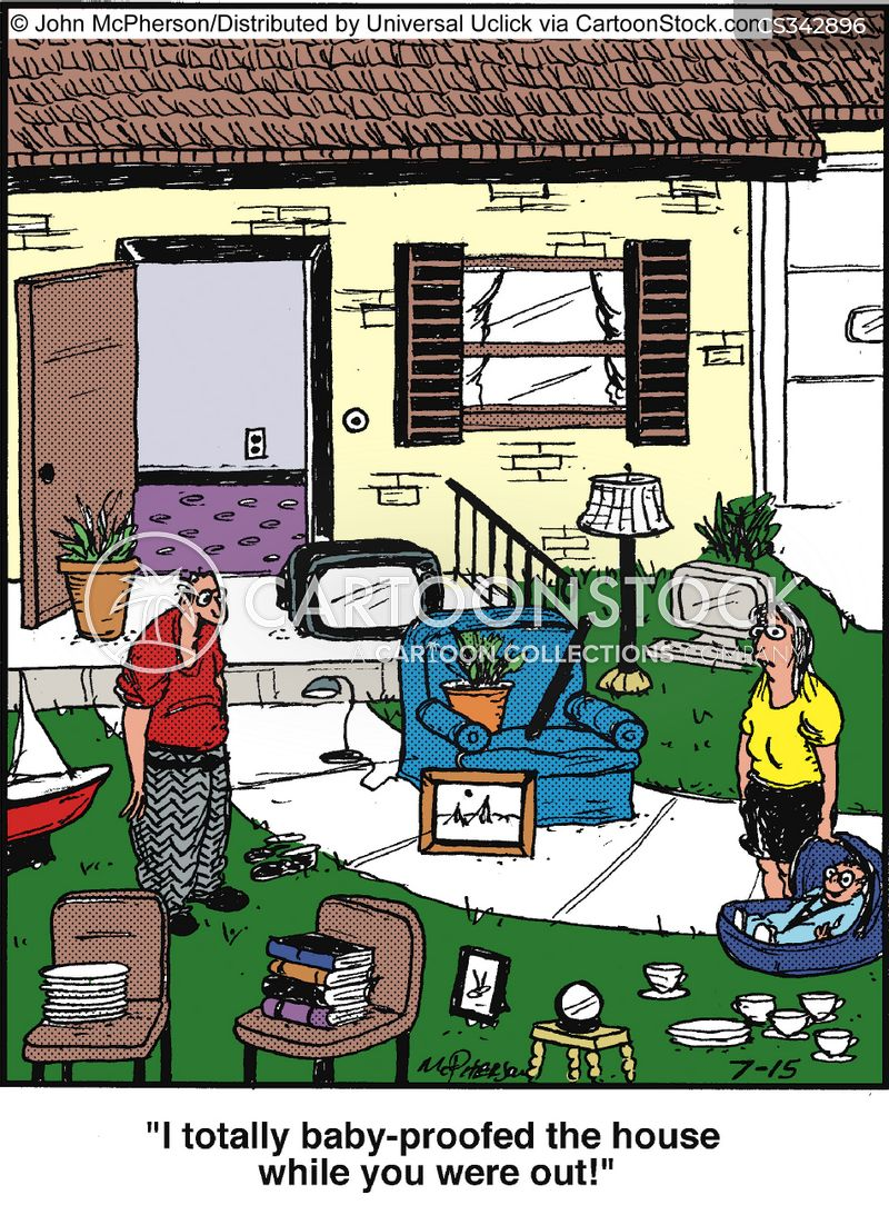 exhausted parents cartoon