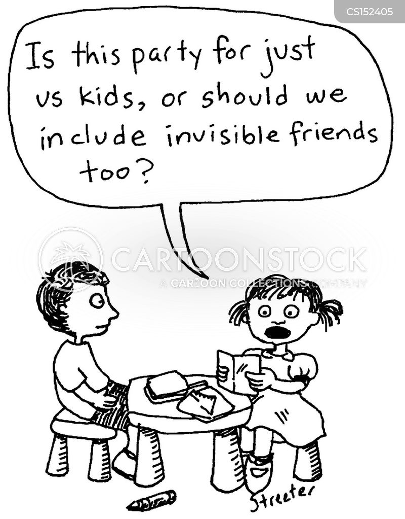 invisible friend cartoon