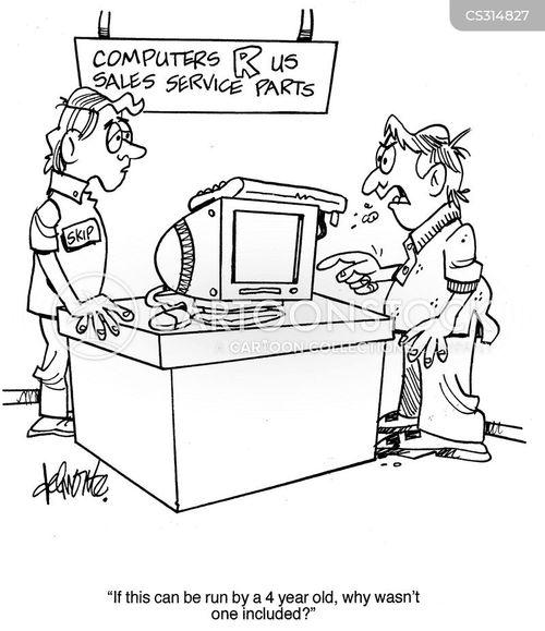 computer salesmen cartoon