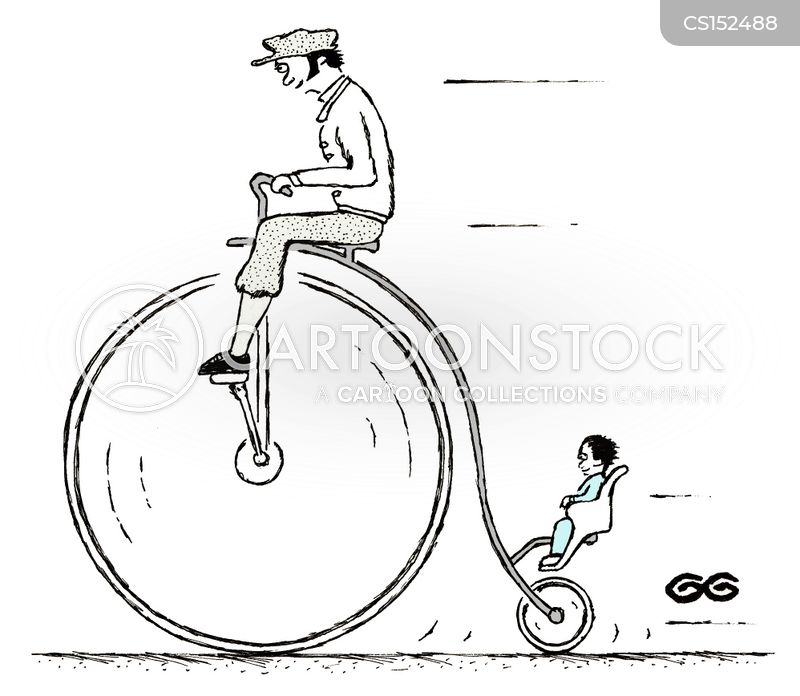 penny farthings cartoon