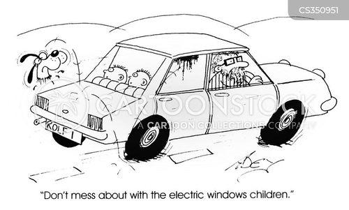 electric window cartoon