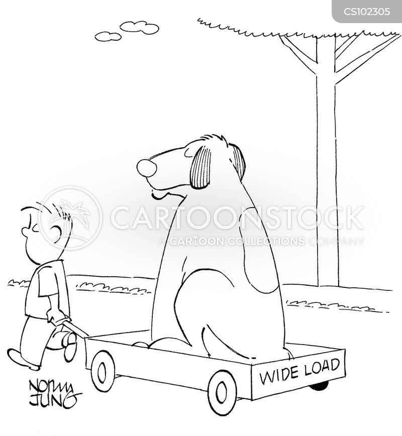wide loads cartoon