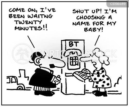 telephone directory cartoon