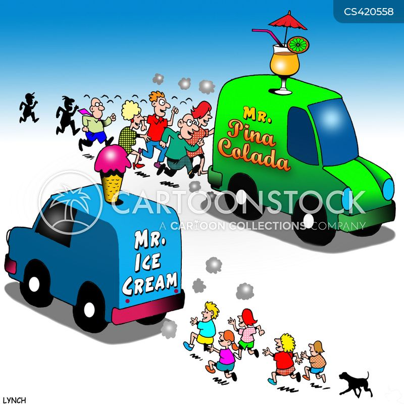 ice-cream vans cartoon