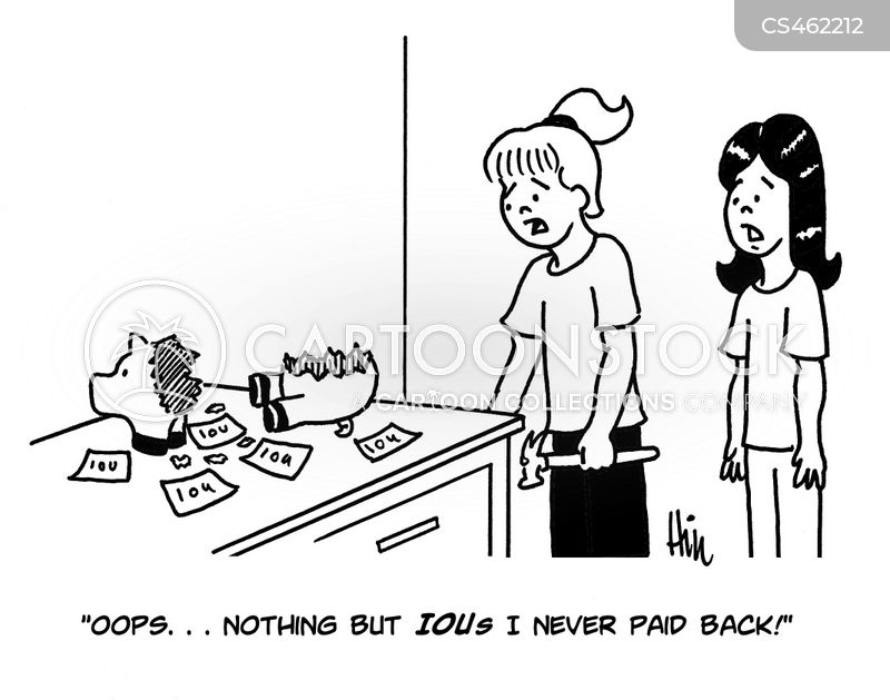 paying back cartoon