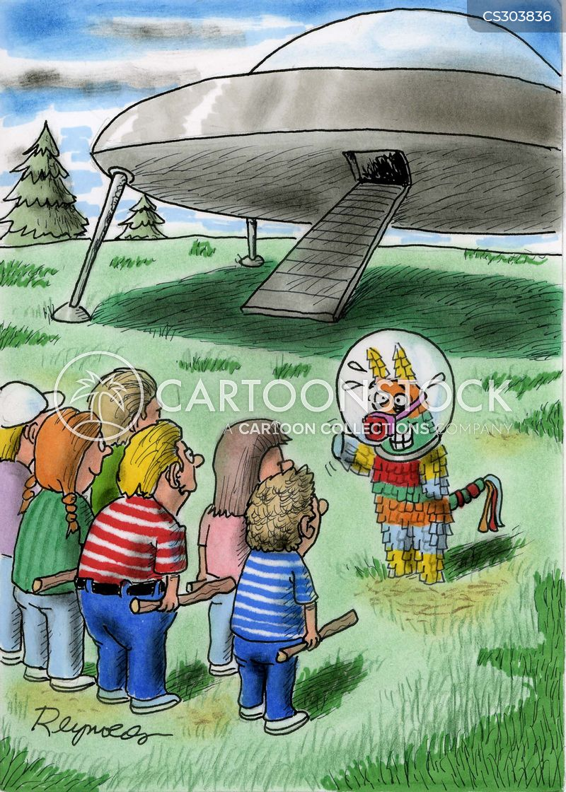 alien spaceship cartoon
