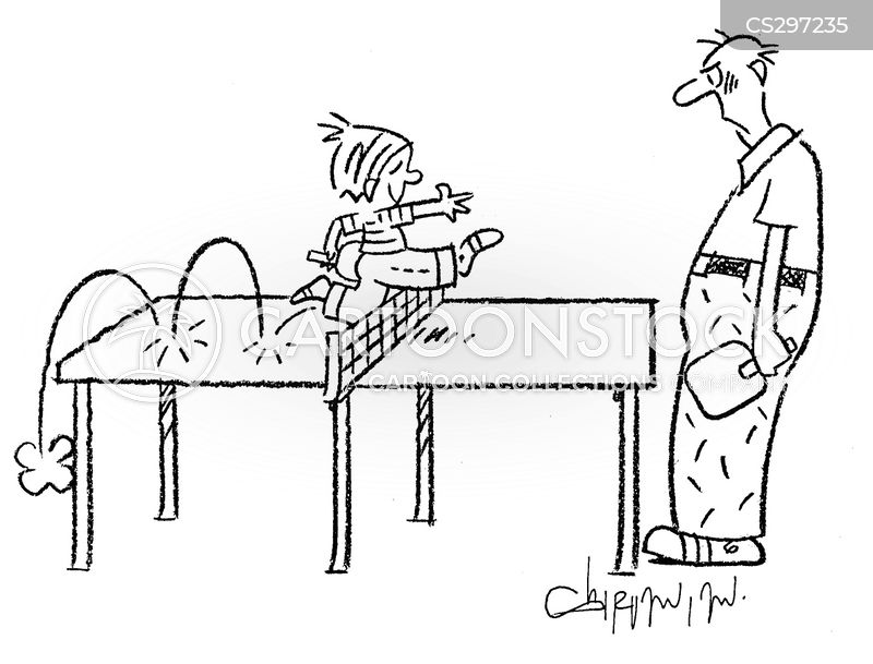 ping pong tables cartoon