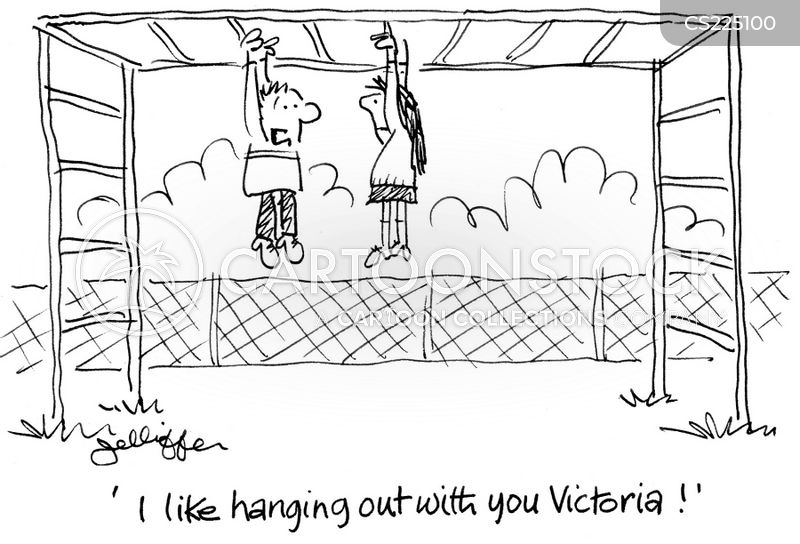 hangs out cartoon