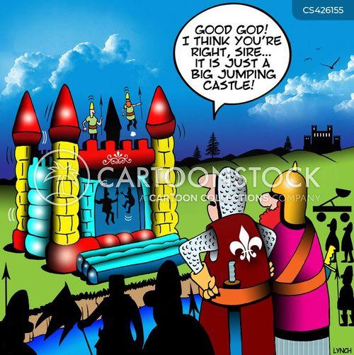 bouncy castles cartoon
