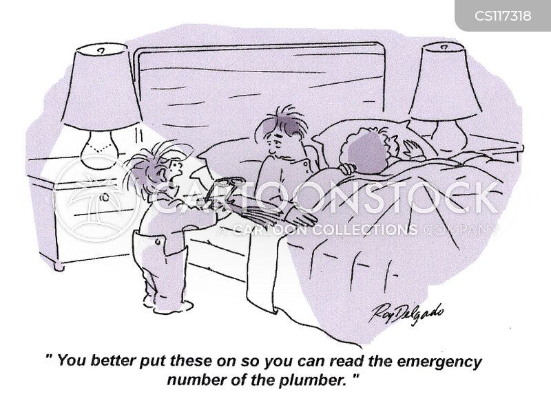 emergency plumbers cartoon
