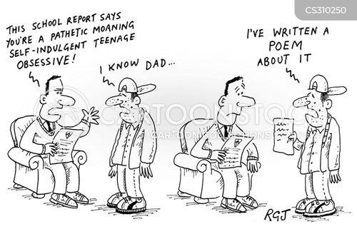 teenage angst cartoon