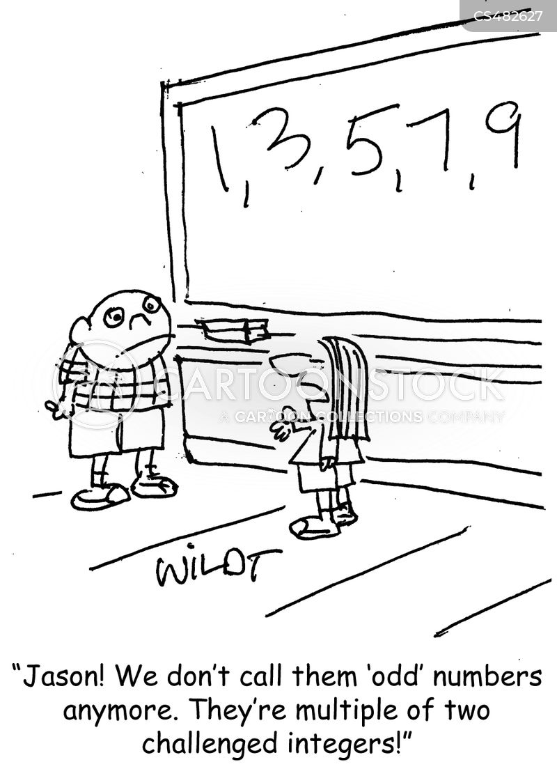 even numbers cartoon