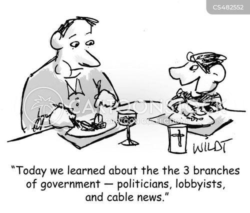Children Politician Lobbyist Cable News Legislative Branches Journalist Cwln Low on Legislative Branch Political Cartoons