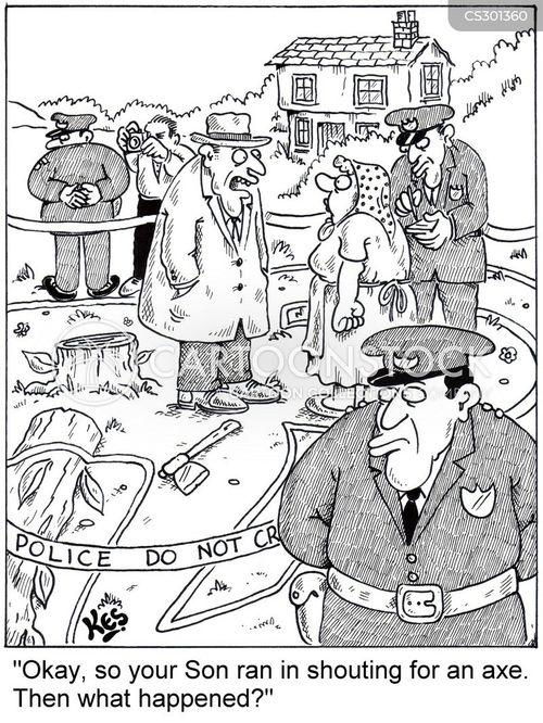 chopped down cartoon