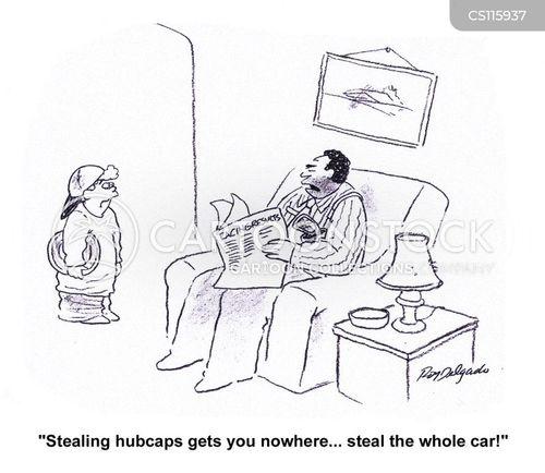 hubcaps cartoon