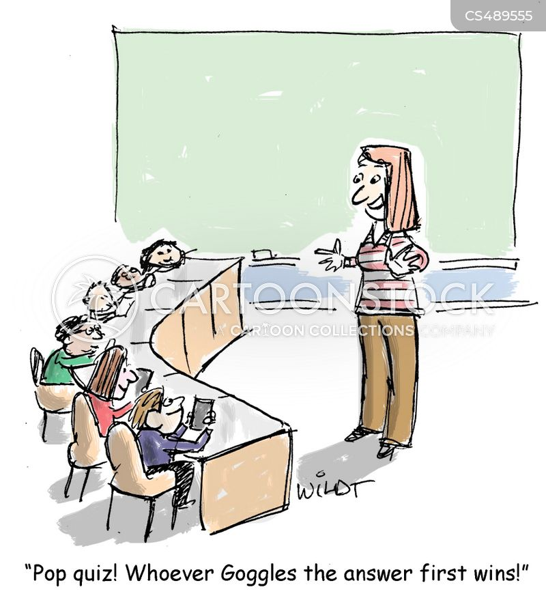 modern teaching cartoon