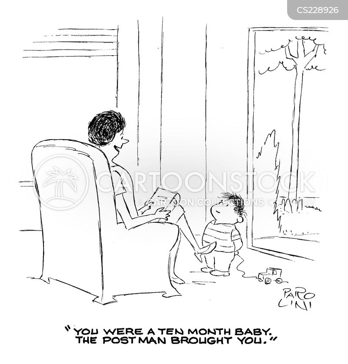 baby delivery cartoon