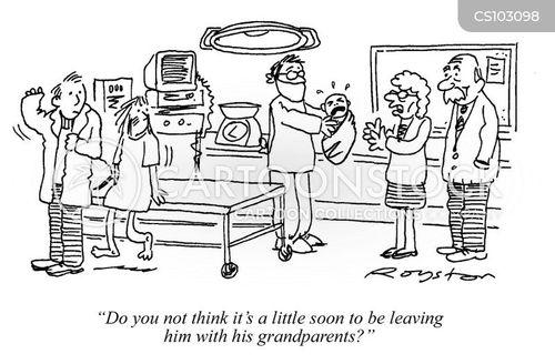 labour ward cartoon